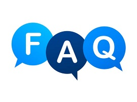 three speech bubbles spelling F A Q