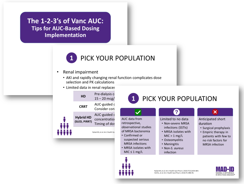 Slide Set: The 1-2-3's of Vanc AUC:Tips for AUC-Based Dosing Implementation